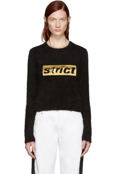 Alexander Wang - Black Angora 'Strict' Sweater