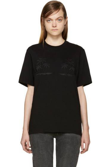 Alexander Wang - Black Embroidered T-Shirt