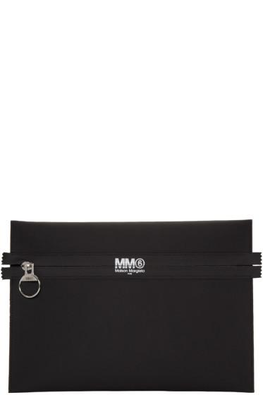 MM6 Maison Margiela - Black Slim Logo Pouch
