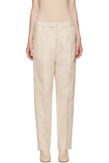MM6 Maison Margiela - Beige Wool Snap Trousers