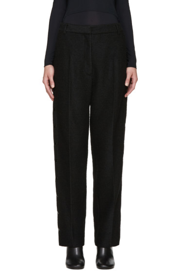 MM6 Maison Margiela - Black Wool Snap Trousers