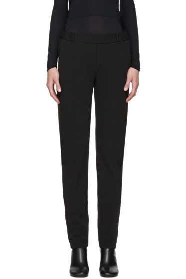 MM6 Maison Margiela - Black Twill Tuxedo Trousers