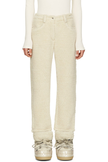MM6 Maison Margiela - Ecru Faux-Shearling Trousers