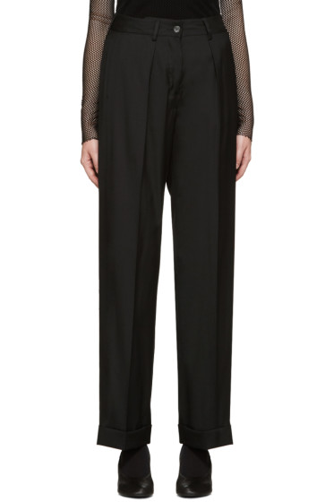 MM6 Maison Margiela - Black Wool-Blend Trousers