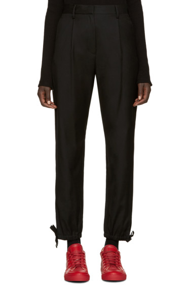 MM6 Maison Margiela - Black Wool Knots Trousers
