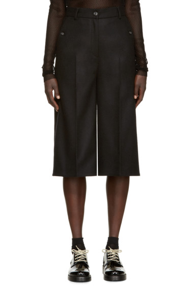 MM6 Maison Margiela - Black Felted Wool Culottes