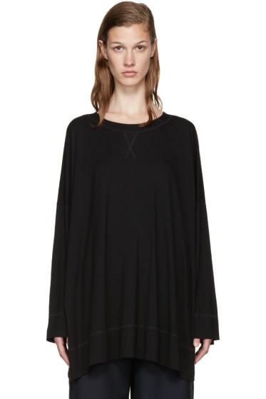 MM6 Maison Margiela - Black Viscose T-Shirt