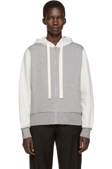 MM6 Maison Margiela - Grey Inside-Out Hoodie