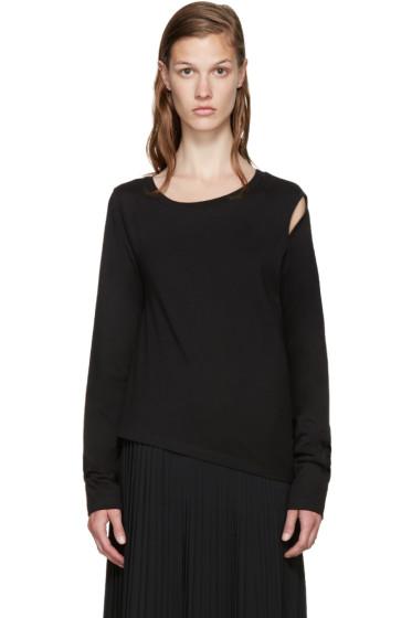 MM6 Maison Margiela - Black Cut-Out T-Shirt