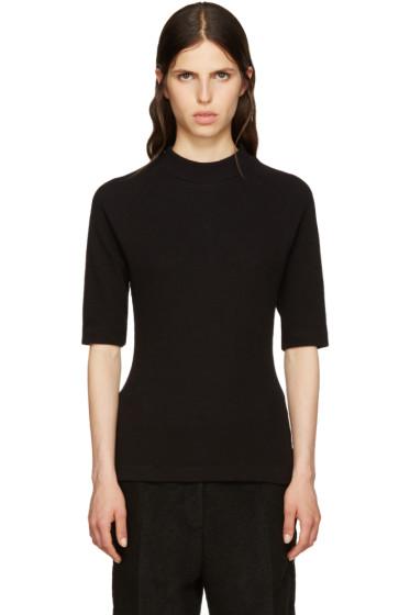 MM6 Maison Margiela - Black Waffle Cotton T-Shirt