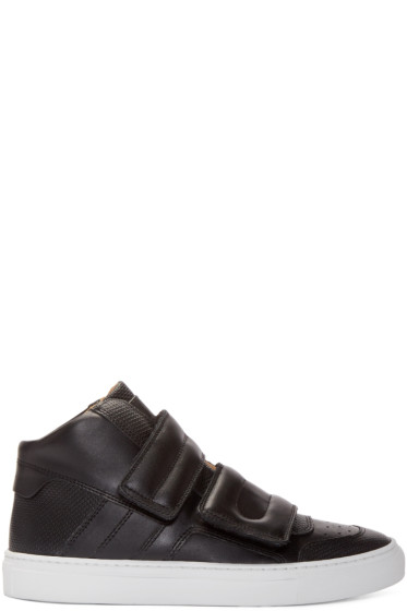 MM6 Maison Margiela - Black Leather High-Top Sneakers