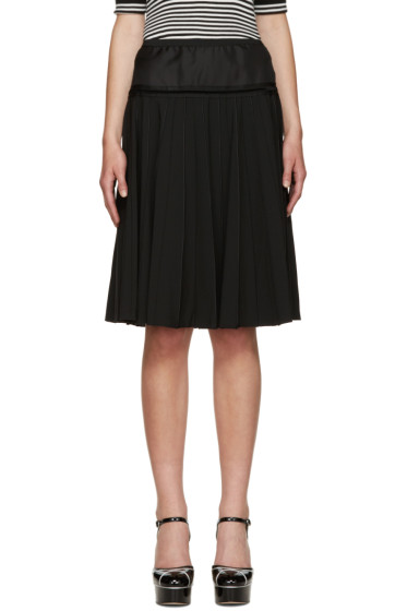 Marc Jacobs - Black Pleated Wool Skirt
