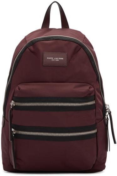 Marc Jacobs - Burgundy Nylon Utility Backpack