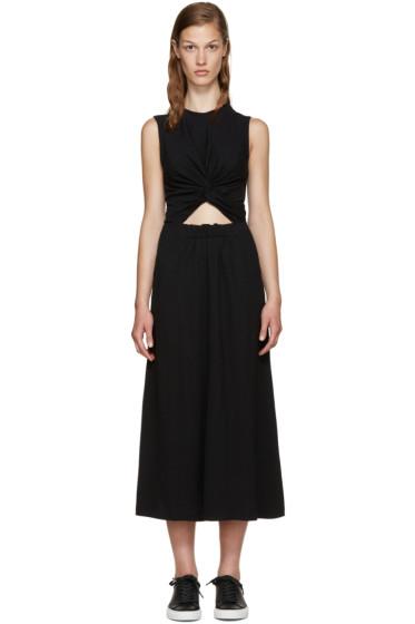 T by Alexander Wang - Black Twist Front Dress