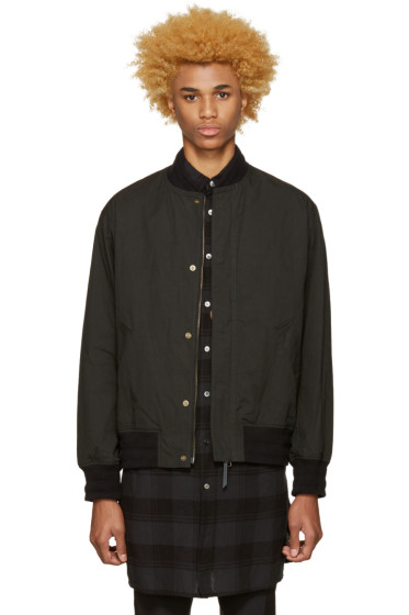 Robert Geller - Black Massimo Bomber Jacket