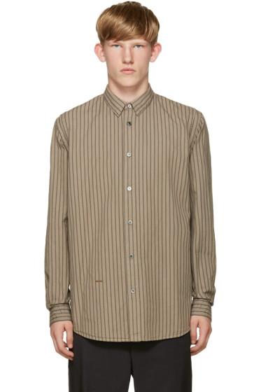 Robert Geller - Beige Striped Vintage Shirt