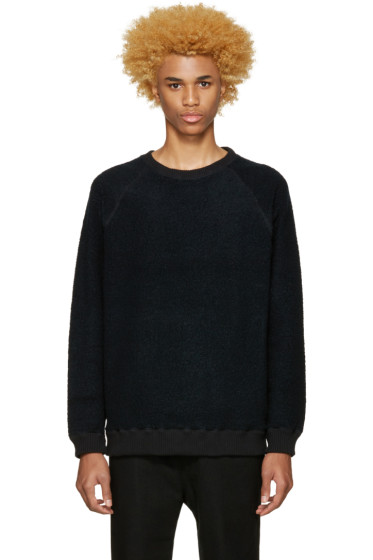 Robert Geller - Black Textured Pullover
