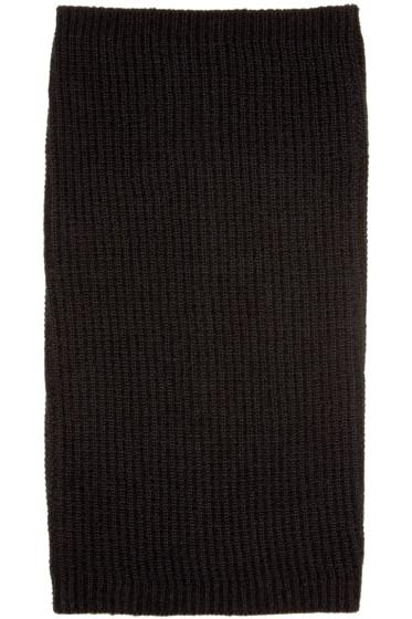 Rick Owens - Black Cashmere & Wool Scarf