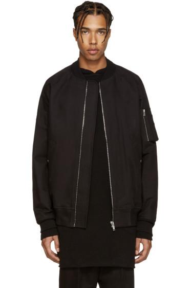 Rick Owens - Black Cotton Bomber Jacket