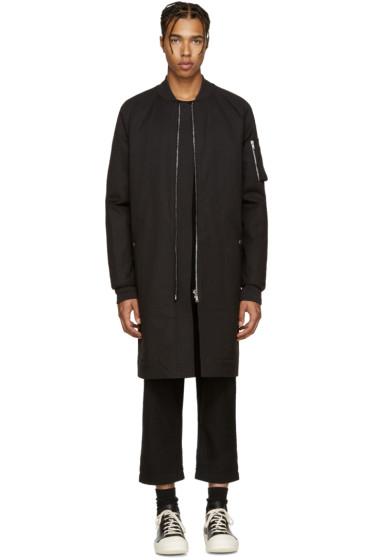 Rick Owens - Black Bomber Coat
