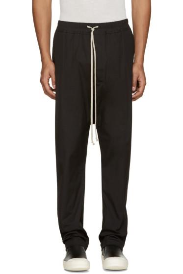Rick Owens - Black Drawstring Lounge Pants