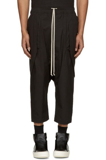 Rick Owens - Black Anthem Cargo Trousers