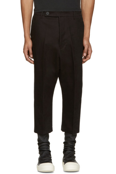 Rick Owens - Black Cropped Astaires Trousers