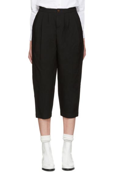 Comme des Garçons - Black Ester Cropped Trousers