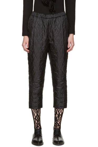 Comme des Garçons - Black Quilted Trousers