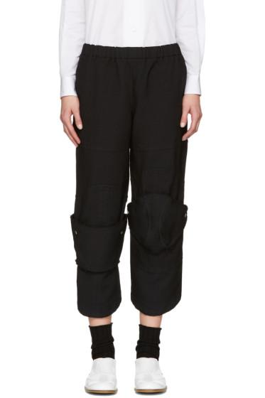 Comme des Garçons - Black Panelled Trousers