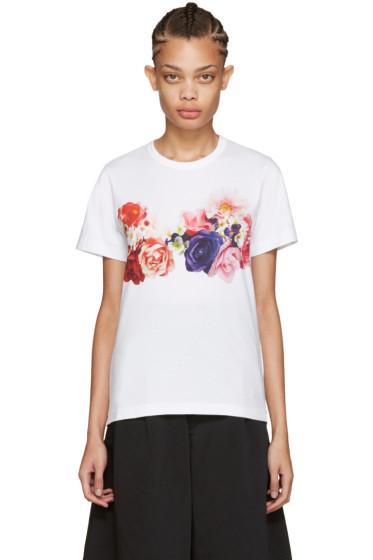 Comme des Garçons - White Flower T-Shirt