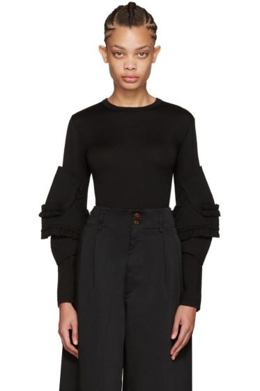 Comme des Garçons - Black Ruffled Sleeve Pullover