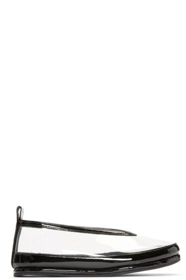 Comme des Garçons - Clear & Black PVC Ballerina Flats