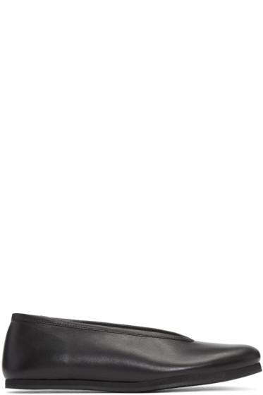 Comme des Garçons - Black Leather Ballerina Flats