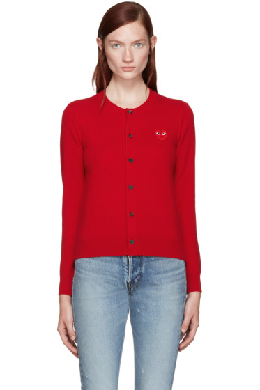 Comme des Garçons Play - Red Heart Patch Cardigan
