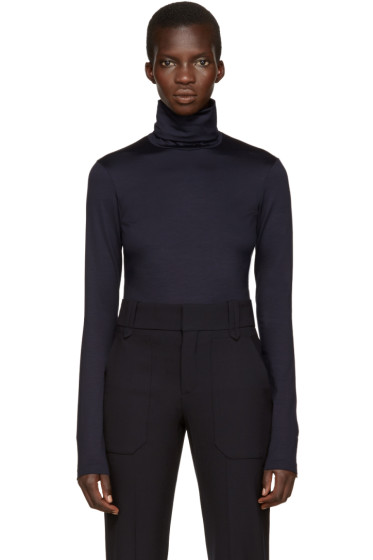 Jil Sander - Navy Stretch Jersey Turtleneck