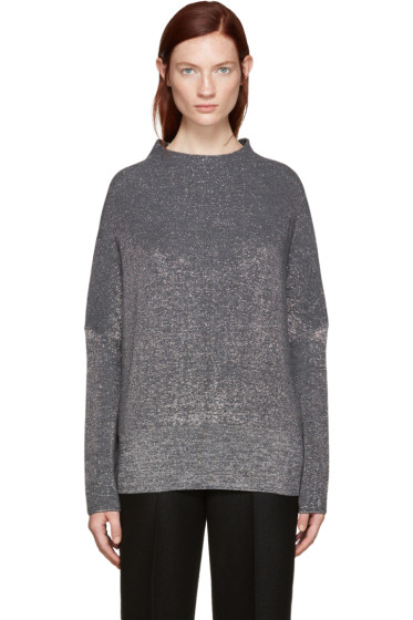Jil Sander - Grey Lurex Turtleneck