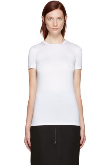 Jil Sander - White Stretch Cotton T-Shirt