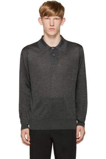 Jil Sander - Grey Metallic Polo