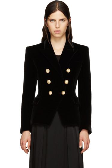 Balmain - Black Velvet Classic Blazer