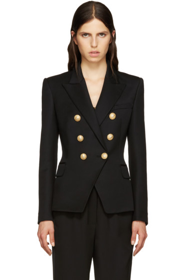 Balmain - Black Wool Classic Blazer