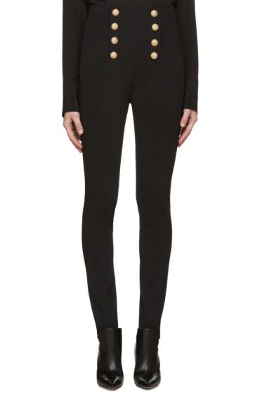 Balmain - Black Button Trousers