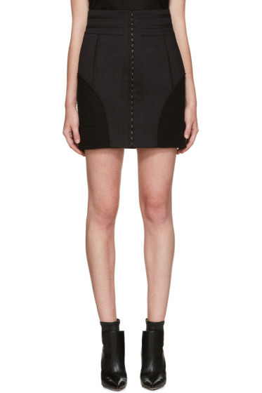 Balmain - Black High-Rise Skirt