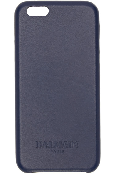 Balmain - Navy Leather iPhone 6 Case