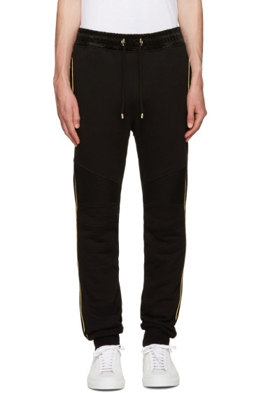 Balmain - Black & Gold Trimmed Lounge Pants