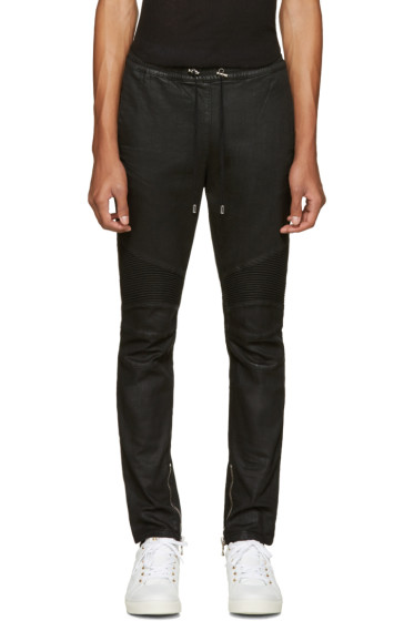Balmain - Black Biker Lounge Pants