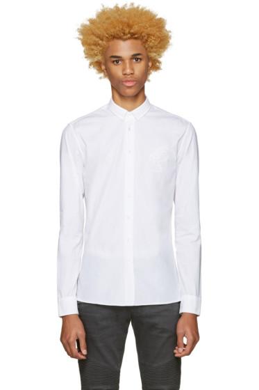 Balmain - White Pique Trimmed Shirt