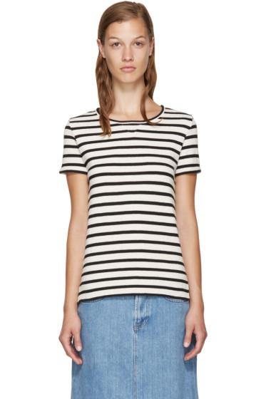 A.P.C. - Navy & White Lynn T-Shirt