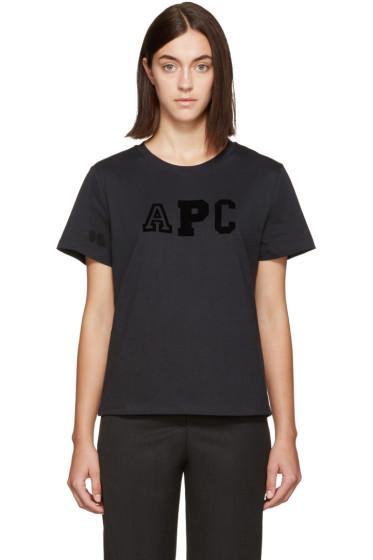 A.P.C. - Navy Collegien Logo T-Shirt