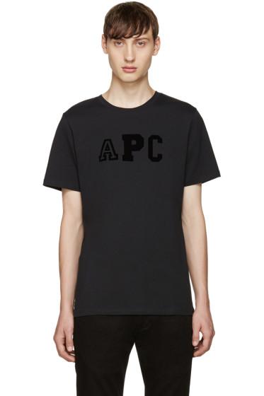 A.P.C. - Navy College Logo T-Shirt